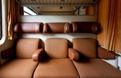 Διαμέρισμα τραίνων καθισμάτων Στοκ Φωτογραφίες