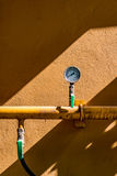 Διαμέτρημα πίεσης αερίου στοκ φωτογραφίες
