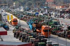 Διαμαρτυμένος αγρότες από τη γεωργική περιοχή του arri Thessaly Στοκ εικόνες με δικαίωμα ελεύθερης χρήσης