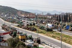 Διαμαρτυμένος αγρότες από τη γεωργική περιοχή του arri Thessaly Στοκ φωτογραφίες με δικαίωμα ελεύθερης χρήσης