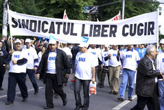 Διαμαρτυρία ένωσης Στοκ Φωτογραφίες