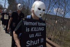 Διαμαρτυρία Απριλίου 2012 στο VT Αμερικανός πυρηνικός Στοκ εικόνα με δικαίωμα ελεύθερης χρήσης