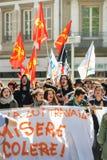 Διαμαρτυρία Απριλίου ενάντια στις μεταρρυθμίσεις εργασίας στη Γαλλία Στοκ Φωτογραφίες