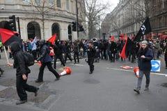Διαμαρτυρία αυστηρότητας στο Λονδίνο στοκ φωτογραφίες με δικαίωμα ελεύθερης χρήσης