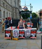 Διαμαρτυρία αυστηρότητας στοκ εικόνα