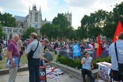 Διαμαρτυρία αυστηρότητας στοκ εικόνες