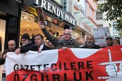 Διαμαρτυρία δημοσιογράφων Στοκ Εικόνες