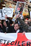 Διαμαρτυρία δημοσιογράφων Στοκ φωτογραφία με δικαίωμα ελεύθερης χρήσης