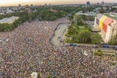Διαμαρτυρία Διασποράς στο Βουκουρέστι ενάντια στην κυβέρνηση στοκ εικόνες