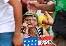 Διαμαρτυρία ενάντια στην ΑΜΕΡΙΚΑΝΙΚΗ Barack Obama επίσκεψη στις Φιλιππίνες Στοκ Φωτογραφίες