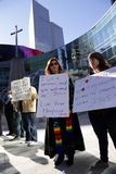 Διαμαρτυρία ενάντια στην απαγόρευση προσφύγων στις ΗΠΑ, Ντάλλας, TX Στοκ Εικόνες