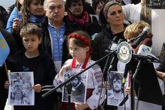 Διαμαρτυρία ενάντια στην εισβολή της Κριμαίας Στοκ Εικόνες