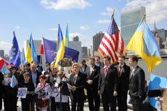 Διαμαρτυρία ενάντια στην εισβολή της Κριμαίας Στοκ Φωτογραφία