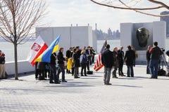 Διαμαρτυρία ενάντια στην εισβολή Crimeas Στοκ Φωτογραφία