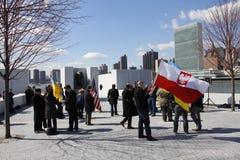 Διαμαρτυρία ενάντια στην εισβολή Crimeas Στοκ εικόνες με δικαίωμα ελεύθερης χρήσης