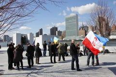Διαμαρτυρία ενάντια στην εισβολή Crimeas Στοκ Εικόνα