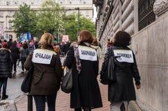 Διαμαρτυρία ενάντια στην εκλογή αρχαιότερου Aleksandar Vucic ως Πρόεδρο, Βελιγράδι στοκ εικόνες με δικαίωμα ελεύθερης χρήσης