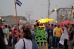 Διαμαρτυρία ενάντια στη δωροδοκία στην Ονδούρα ενάντια στο Juan Ορλάντο Hernandez 30 στοκ φωτογραφίες