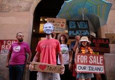 Διαμαρτυρία ενάντια στον τουρισμό στη Μαγιόρκα Στοκ εικόνα με δικαίωμα ελεύθερης χρήσης