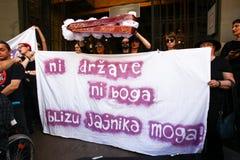 Διαμαρτυρία ενάντια στο φασισμό Στοκ φωτογραφίες με δικαίωμα ελεύθερης χρήσης