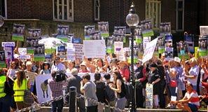Διαμαρτυρία εξαγωγών ζωντανών ζώων στάσεων από το UK Λονδίνο Στοκ φωτογραφίες με δικαίωμα ελεύθερης χρήσης