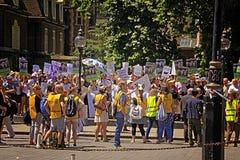 Διαμαρτυρία εξαγωγών ζωντανών ζώων στάσεων από το UK Λονδίνο Στοκ Φωτογραφία