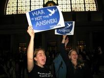 διαμαρτυρία επαγγέλματος στοκ εικόνα με δικαίωμα ελεύθερης χρήσης