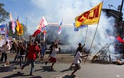 Διαμαρτυρία κατά τη διάρκεια της ημέρας των ανθρώπινων δικαιωμάτων Στοκ φωτογραφία με δικαίωμα ελεύθερης χρήσης