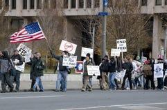 Διαμαρτυρία Κεντρικής Τράπεζας των ΗΠΑ Philly στοκ φωτογραφία