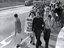 Διαμαρτυρία κυνηγιού σφραγίδων, Λονδίνο στοκ εικόνες