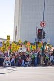 διαμαρτυρία Λα πλήθους Στοκ Εικόνα