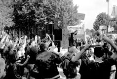 Διαμαρτυρία οδών στη Γαλλία Στοκ Εικόνες