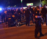 Διαμαρτυρία πυροβολισμού Ferguson στο ασβέστιο του Όουκλαντ Στοκ εικόνες με δικαίωμα ελεύθερης χρήσης