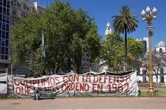 Διαμαρτυρία σε Plaza de Mayo, Μπουένος Άιρες, Αργεντινή Στοκ εικόνες με δικαίωμα ελεύθερης χρήσης