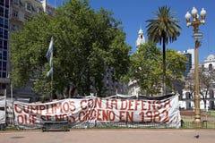 Διαμαρτυρία σε Plaza de Mayo, Μπουένος Άιρες, Αργεντινή Στοκ φωτογραφία με δικαίωμα ελεύθερης χρήσης
