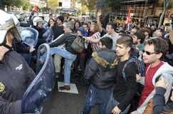 Διαμαρτυρία στην Ισπανία 077 Στοκ φωτογραφία με δικαίωμα ελεύθερης χρήσης