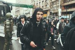 Διαμαρτυρία στη Χιλή Στοκ Φωτογραφίες