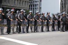 Διαμαρτυρία στις 12 Απριλίου 2015 São Paulo οδών της Βραζιλίας Στοκ εικόνες με δικαίωμα ελεύθερης χρήσης