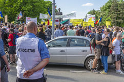 Διαμαρτυρία στο Βουκουρέστι ενάντια στην παράνομη αναγραφή στοκ φωτογραφία με δικαίωμα ελεύθερης χρήσης