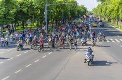 Διαμαρτυρία στο Βουκουρέστι ενάντια στην παράνομη αναγραφή στοκ εικόνες με δικαίωμα ελεύθερης χρήσης