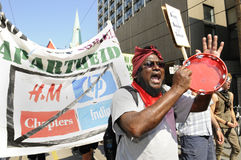 Διαμαρτυρία στο Τορόντο. Στοκ εικόνα με δικαίωμα ελεύθερης χρήσης