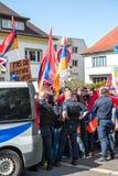 Διαμαρτυρία σύγκρουσης του Αζερμπαϊτζάν Αρμενία Στοκ Φωτογραφία