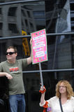 Διαμαρτυρία ταραχής γατών στο Τορόντο Καναδάς. Στοκ εικόνα με δικαίωμα ελεύθερης χρήσης