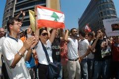 διαμαρτυρία της Βηρυττού Στοκ Εικόνα