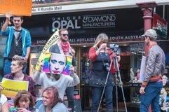 Διαμαρτυρία της Διεθνούς Αμνηστίας Τσετσενία Στοκ Εικόνες