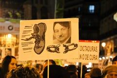 διαμαρτυρία της Μαδρίτης Στοκ φωτογραφία με δικαίωμα ελεύθερης χρήσης