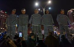 Διαμαρτυρία της Ρουμανίας, ημέρα 4 στοκ εικόνες