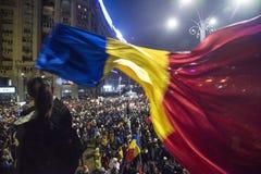 Διαμαρτυρία του Βουκουρεστι'ου ενάντια στην κυβέρνηση στοκ εικόνες