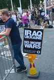 Διαμαρτυρία του Ιράκ και της Ουκρανίας Στοκ Φωτογραφίες