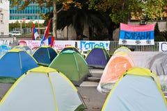 Διαμαρτυρία του Μαυροβουνίου Στοκ Εικόνες